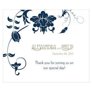 Floral Orchestra Rectangular Favor Stickers image