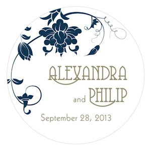 Floral Orchestra Wedding Stickers for Favors image