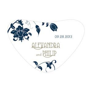 Floral Orchestra Heart Container Stickers image