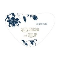 Floral Orchestra Heart Container Stickers