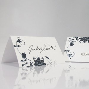 Floral Orchestra Wedding Place Cards (Set of 6) image