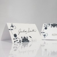 Floral Orchestra Wedding Place Cards (Set of 6)