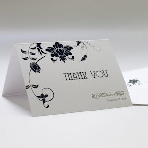 Floral Orchestra Thank You Cards (Set of 6) image