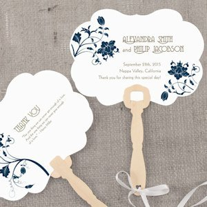 Floral Orchestra Personalized Wedding Hand Fan image