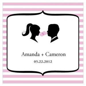 Sweet Silhouettes Square Favor Tag (Set of 20 - 10 Colors) image