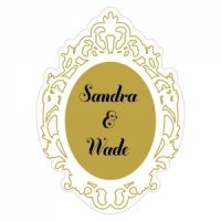 Personalized Mirror Frame Sticker with Metallic Ink