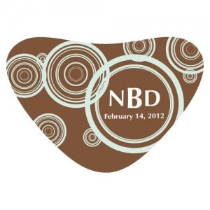 Personalized Swirls Heart Container Sticker image