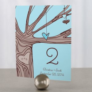 Heart Strings Table Number Cards (3 Colors) image