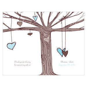 Heart Strings Personalized Wedding Program Paper image