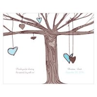 Heart Strings Personalized Wedding Program Paper