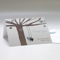 Heart Strings Thank You Card (Set of 6 - 3 Colors)