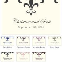Fleur De Lis Large Rectangular Tags (Set of 12)