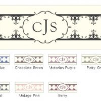 Fleur De Lis Small Rectangular Tags (Set of 20)