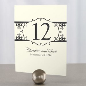 Fleur De Lis Wedding Reception Table Numbers image