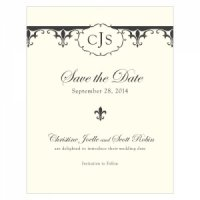 Fleur De Lis Save the Date Cards (7 Colors)