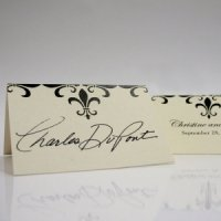 Fleur De Lis Table Seating Cards (Set of 6 - 7 Colors)
