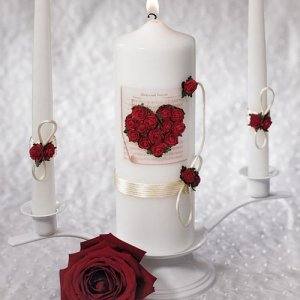 Romantic Red Unity Candle Set image