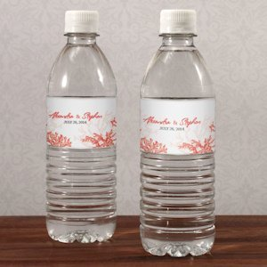 Reef Coral Water Bottle Labels (Set of 10 - 8 Colors) image