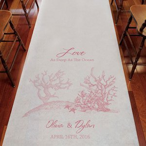 Reef Coral Personalized Aisle Runner (8 Colors) image