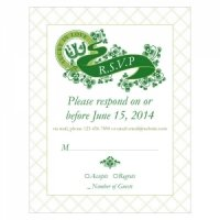 Luck of the Irish RSVP Cards (Set of 8 - 5 Colors)