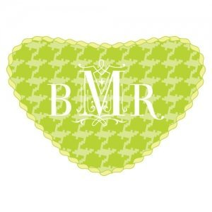 Personalized Knitted Heart Container Sticker (5 Colors) image