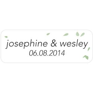 Floating Leaf Personalized Sticker image