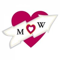 Die Cut Personalized Heart Initial Stickers
