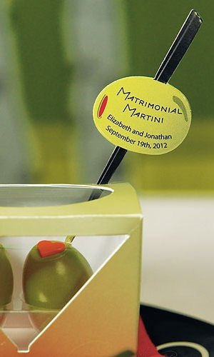 Personalized Martini Olive Sticker image