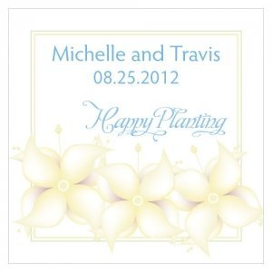 Happy Planting Personalized Favor Card (Set of 10) image