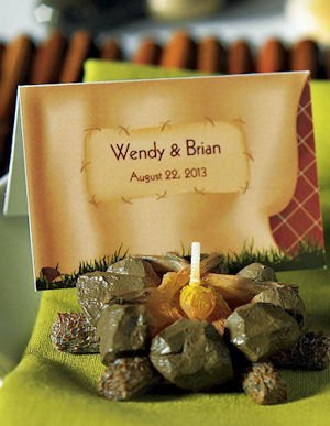 Personalized Tent Themed Folding Favor Cards (Set of 6) image