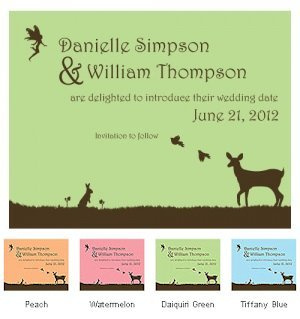 Fairytale Charm Save the Date Cards (Set of 8 - 4 Colors) image