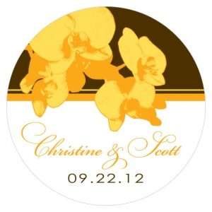 Personalized Orchid Glamour Small Sticker (6 Colors) image