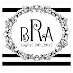 Rococo Monogram Tags for Wedding Favors (Set of 20)