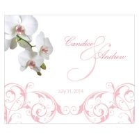 Classic Orchid Rectangular Favor Stickers (4 Colors)