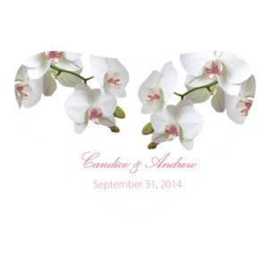 Classic Orchid Heart Container Sticker (4 Colors) image