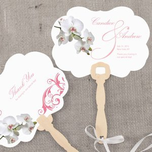 Classic Orchid Personalized Hand Fan (4 Colors) image
