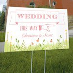 Homespun Charm Wedding Directional Sign (4 Colors)