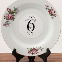 Classic Deco Die-Cut Printed Number Clings (3 Colors)