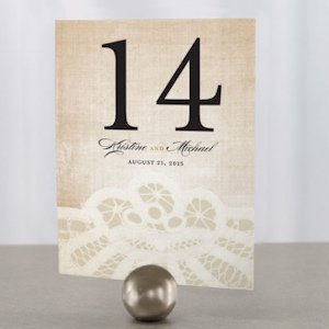 Vintage Lace Table Number (7 Colors) image