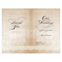 Vintage Lace Personalized Program (7 Colors)