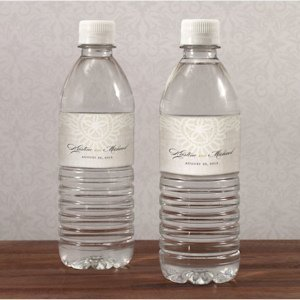 Vintage Lace Personalized Water Bottle Labels image