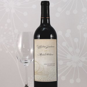 Vintage Lace Personalized Wine Label (Set of 8) image