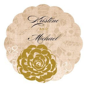 Vintage Lace Personalized Die Cut Sticker (7 Colors) image