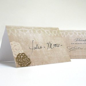 Vintage Lace Personalized Folded Place Cards image