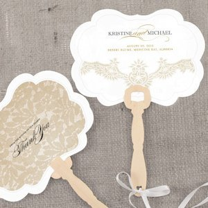 Vintage Lace Personalized Hand Fan image