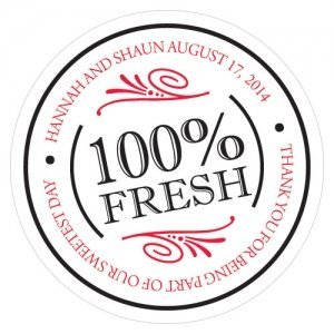 100 Percent Fresh Small Sticker (6 Colors) image