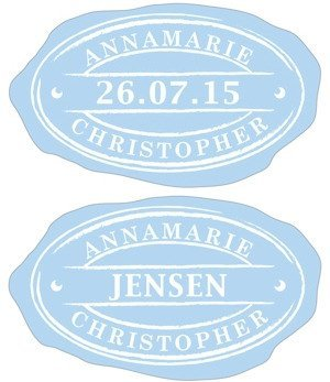 Oval Envelope Seal Stickers (3 Colors - 5 Designs) image