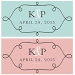 Pretty Petals Personalized Gift Tags (Set of 24 - 11 Colors)