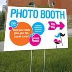 Retro Pop Directional Photo Booth Sign