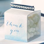 Personalized Aqueous Favor Box Wrap (Set of 10) - 5 Colors